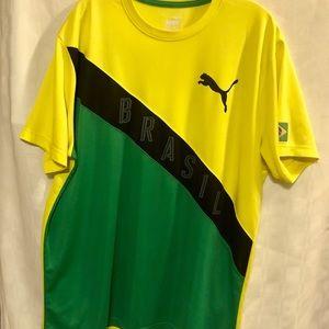 Puma Yellow Green Brazil T-Shirt